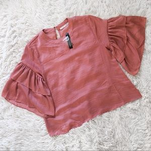 NWT Violet + Claire Ruffle Sleeve Top